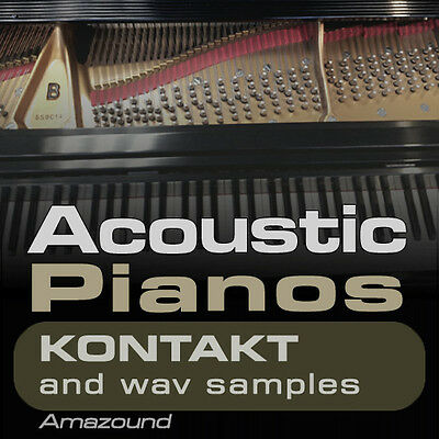 40 ACOUSTIC PIANOS for KONTAKT NKI INSTRUMENTS +1100 WAV SAMPLES MAC PC DOWNLOAD