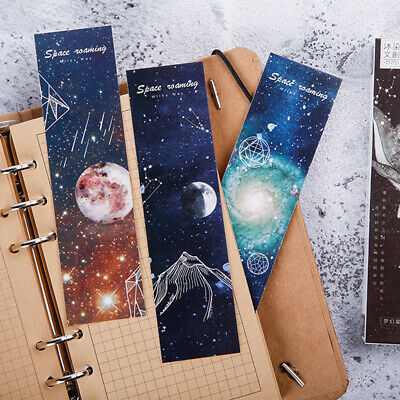 30pcs/lot Roaming space Paper bookmarks stationery book holder message card J@TS