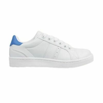 Kids Aerosport Strike Youth White Blue School Sneakers Trainers Runners Shoes