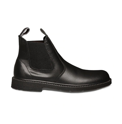 Clarks Reflex Boys Boots School Shoes Pull On Elastic Gusset Black Comfortable