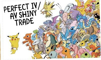 10X PoKemon Lets Go Shiny Trade Alolan 6IV Perfect Av (LGPE) Trade (Any Pokemon)