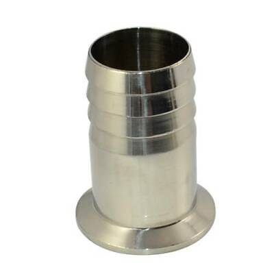 """1-1/2"""" OD 38mm Sanitary Hose Barb Ferrule Pipe Fitting Fits Tri Clamp Type SS316"""