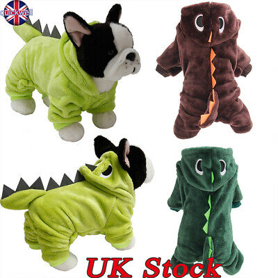 Pet Dog Dinosaur Costume Clothes Puppy Halloween Chihuahua Jumpsuit Jacket Coat