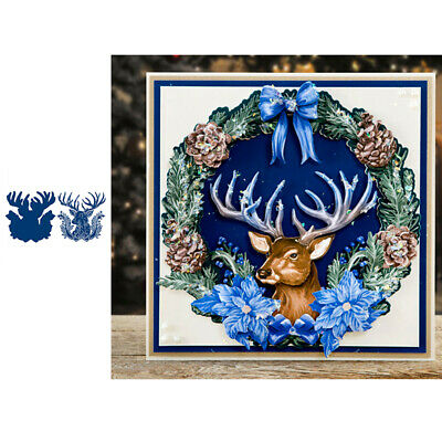 Festive Stag Christmas Metal Cutting Dies Stencils for DIY Scrapbooking Carfts