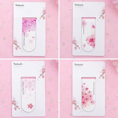 Cherry Blossom Magnetic Bookmark Creative Student Book Folder Mini Book Clip