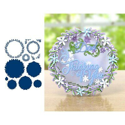 Everyday Decorative Wreaths Metal Cutting Dies Stencil For Scrapbooking Paper Ca