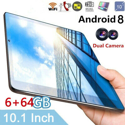 10 inch Tablet PC 6+64GB Android 8.0 Bluetooth IPS Screen 2*SIM GPS Phablet