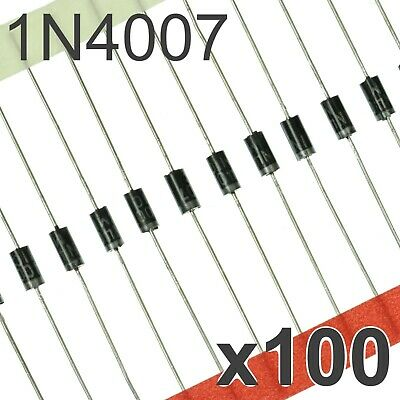 100x 1N4007 DO-41 Diode - 1A General Purpose Rectifier Diodes 52mm
