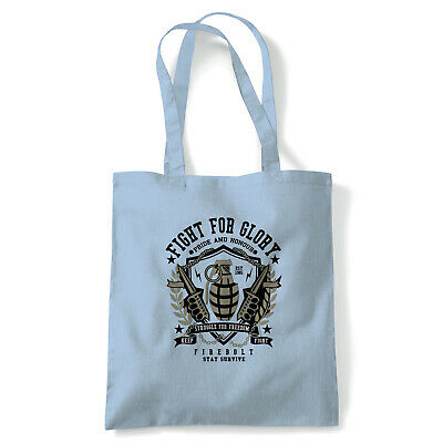 Grenade, Military Tote - Reusable Shopping Canvas Bag Gift