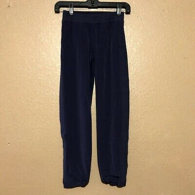 IVIVVA by LULULEMON Blue Jogger Track Dance Pants Size 8 Side Snaps Girls