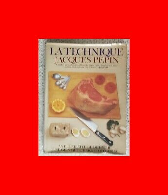 Rare Gd#Hc Book Cookbook:la Technique-Jacques Pepin Illustrated Guide Of Cooking