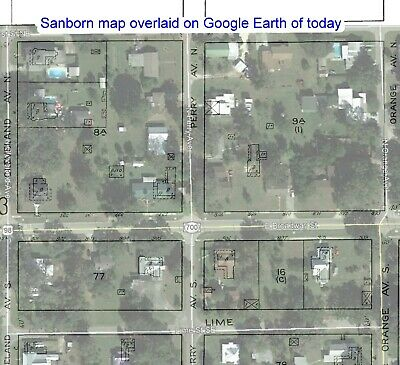 FORT MEAD, FLORIDA~SANBORN Map© sheets 1911, 1917~10 maps on ... on