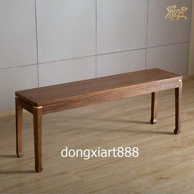 Brass Black walnut solid wood furniture Wooden dining room benches long stool