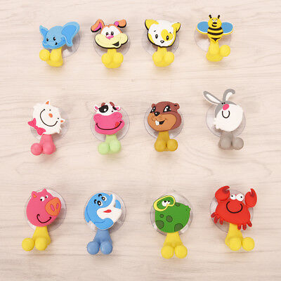 Cartoon Toothbrush Wall Mounted Holder Sucker Bathroom Suction Cup Organize ~GN