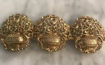 French  Ormolu, Early 19th Century  Gilt Belt Buckle.