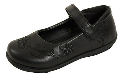 Girls Faux Leather Black School Shoes Kids Mary Jane PU Patent Flat Party Shoes