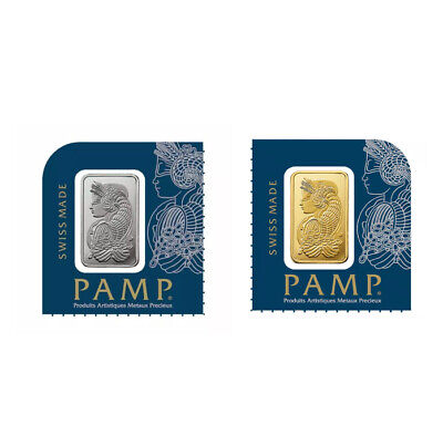 1 Gram Gold and Platinum Bar PAMP Suisse - Starter Pack