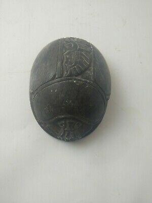 RARE ANCIENT EGYPTIAN ANTIQUE Amulet Scarab Beetle Carved Stone 1210 Bc