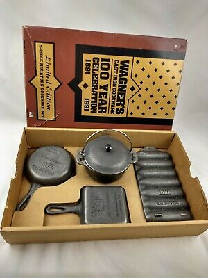 Wagner's Cast Iron Cookware Set 100 Year Celebration (1891-1991) Limited Edition