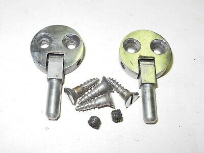 Vintage Singer Sewing Machine Cabinet Head Pin Hinges 2 Hole Steel Finish, Nice