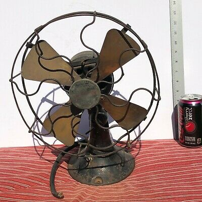 "Antique 10"" Dayton Oscillator Fan BRASS BLADES - FREE SHIPPING & INSURANCE!!!"