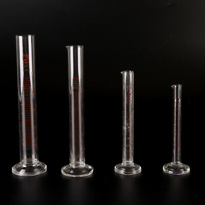 Graduated Glass Measuring Cylinder Chemistry Laboratory Measure new & use easily