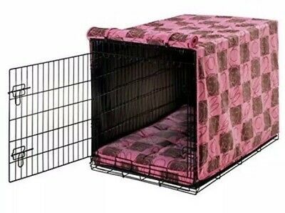 Bowser's Avalon Luxury Crate Cover, Tickled Pink, Large, NWT