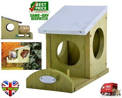 Wild on Wildlife Feeding Station For Squirrels Seeds and Nuts Feeder Box -NEW UK