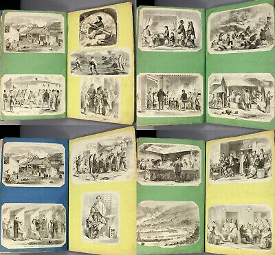 1850s far east india china engravings from London Illustrated News scrap album