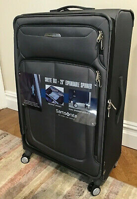 """New Samsonite Solyte Deluxe 29"""" Expandable Spinner Luggage, Gray NWT"""