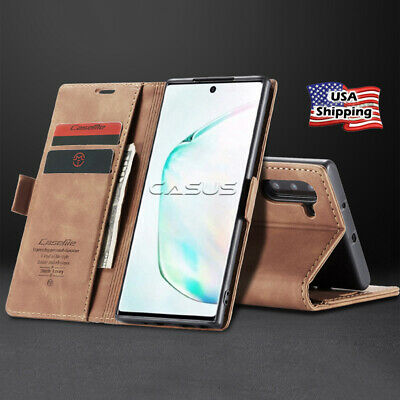 MAGNETIC FLIP COVER Leather Wallet Card Case For Samsung Galaxy Note 10/10+ Plus