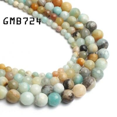 Natural Colorful Amazonite Gemstone Round Beads 4mm 6mm 8mm 10mm 12mm 14mm 15""