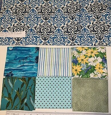Take Me To The Islands Quilt Kit Fabric Set 6 Fat Quarters & Yardage Kit 2