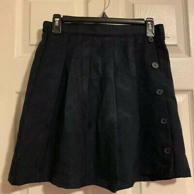 Girls IZOD Navy Blue Uniform Pleated Uniform Skort size 16