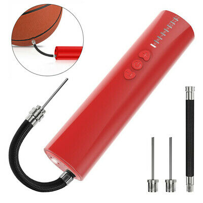Quick Inflating Electric Air Pump With Needle Adapter Basketball Soccer Sports