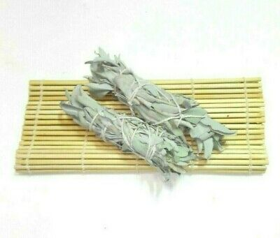 "White Sage Smudge Stick 6"" House Cleansing Negativity Removal Luck $ Bundle of 2"