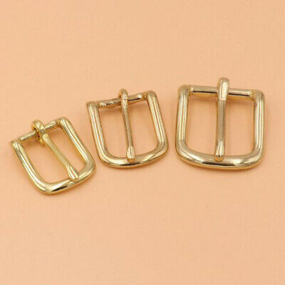 Solid Brass Heel Bar Buckle Single Pin Belt Buckle For Leather Craft Bag Strap