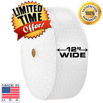 "Bubble Cushioning Wrap 3/16"" Small Sealed Air Padding 350' Roll x 12"" Wide 350FT"
