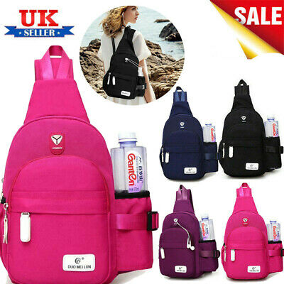 Women Crossbody Sling Backpack Chest Shoulder Bag Travelling Cycling Hiking UK
