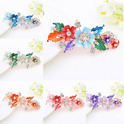 Resin Crystal Hair Clip Cute Hairpin  Headwear Accessories  Flower Barrettes