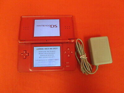 Nintendo DS Lite Limited Edition Red Mario Handheld Video Game Console 4143