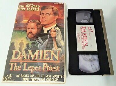 DAMIEN THE LEPER PRIEST (VHS 1985) RARE 1980 TV DRAMA w/ MIKE FARRELL (M*A*S*H)