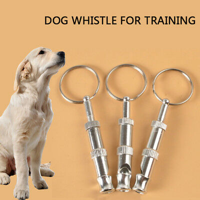 1 Pcs Silver And Red Ultrasonic Sound Whistle For Dog Training~GN