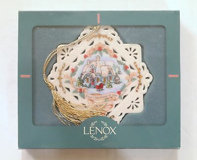 """RARE LENOX 1999 Christmas Ornament """"First Christmas In Our New Home"""""""