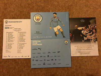Manchester City v Tottenham Hotspur 17/04/2019 Official Programme & Team Sheet