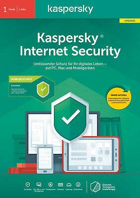 Kaspersky Internet Security 2020 Antivirus 1 PC/1 Jahr Win/Mac/Android *Upgrade*