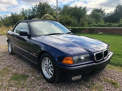 BMW 323i E36 **MANUAL** CONVERTIBLE MONTREAL BLUE SPARES REPAIRS PROJECT TLC