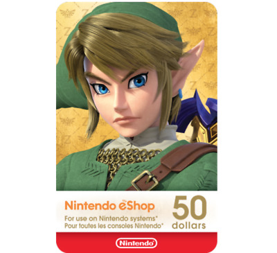 $50 Nintendo eShop Gift Code for only $42.99! (Email Delivery)