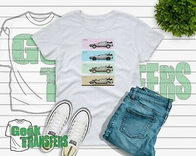 Delorean Back to the future Movie T-shirt - 80's inspired - Free Uk postage