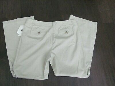 NEW WOMAN'S  CHARTER CLUB Pants  Size 14 Cotton Modern Fit SAND  W/TAGS $49 SALE